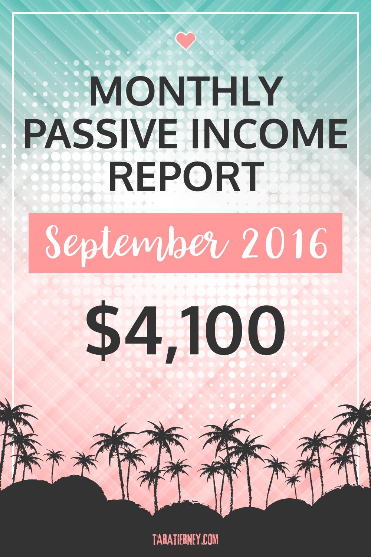 Blogging Income September 2016