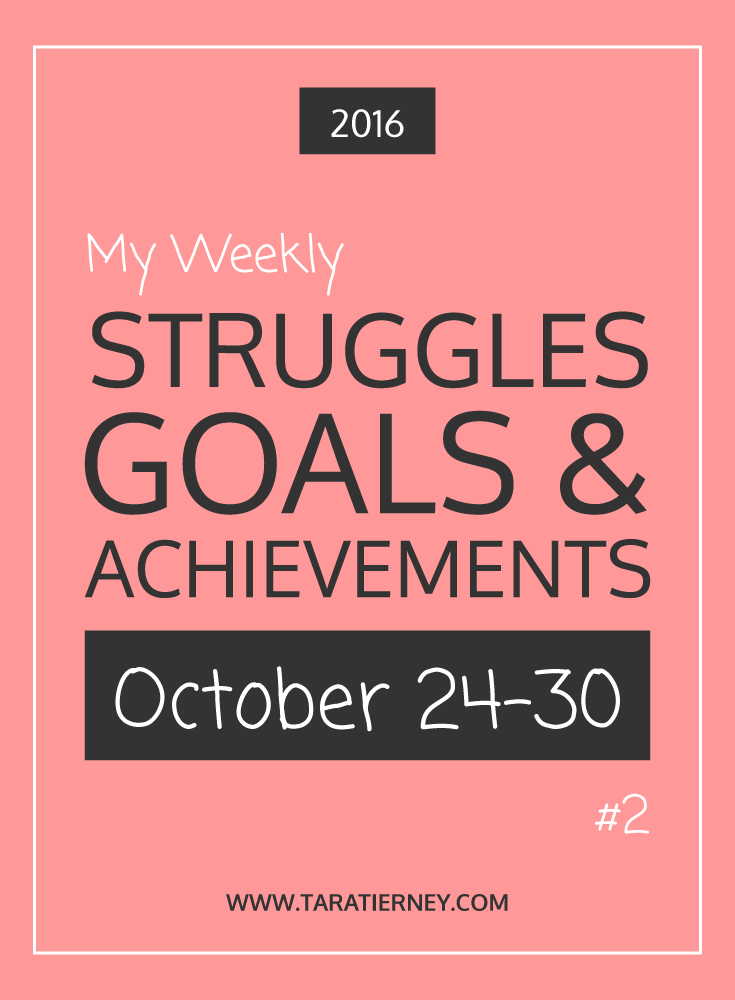 Weekly Struggles Goals Achievements PIN 2 | Tara Tierney