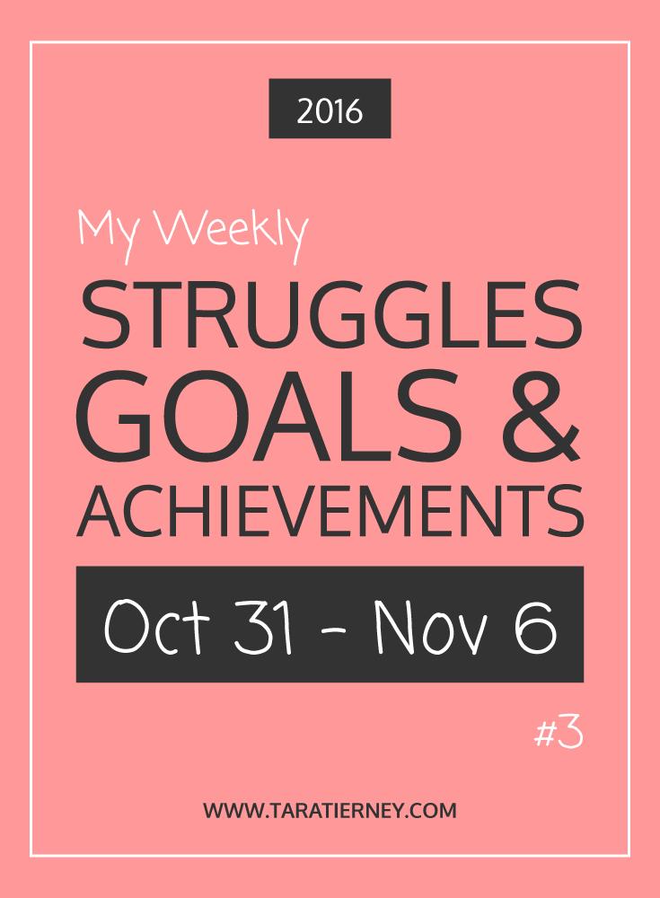Weekly Struggles Goals Achievements PIN 3 | Tara Tierney