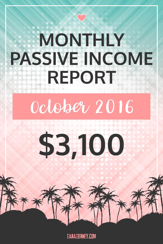 Blogging Income October 2016