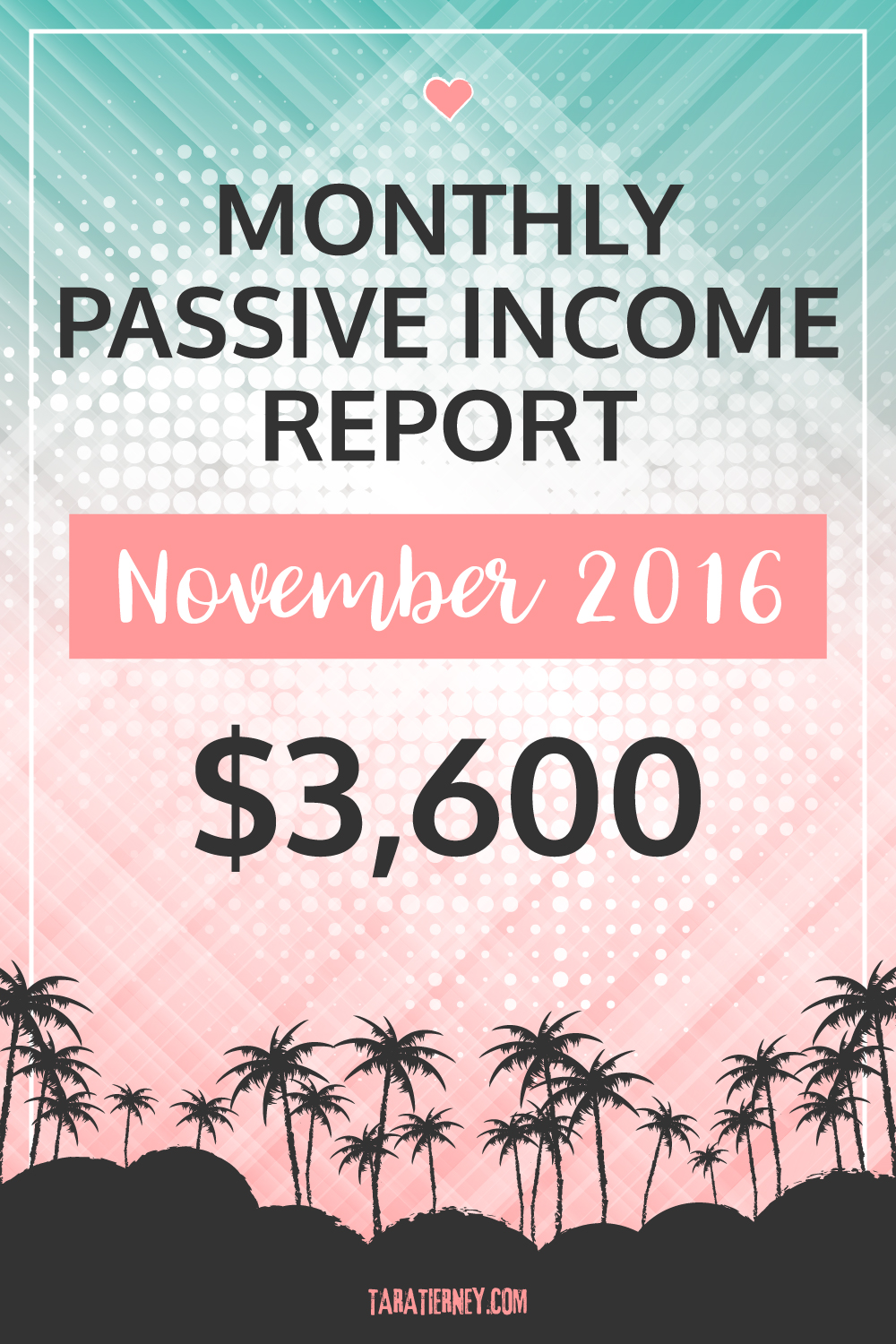 Blogging Income November 2016