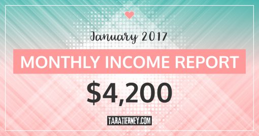 Monthly Blogging Income Report – January 2017