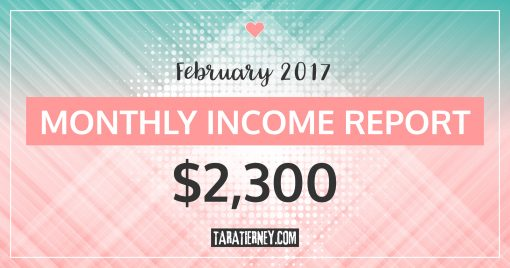 Monthly Blogging Income Report – February 2017