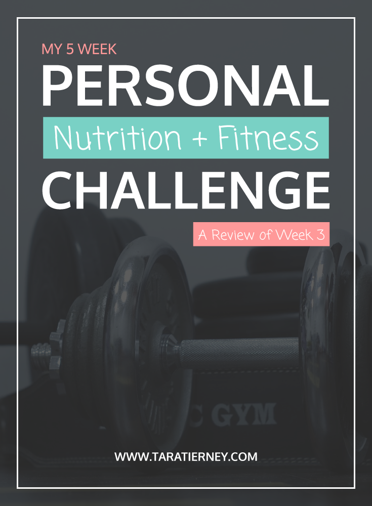 Nutrition Fitness Challenge Week 3 | Tara Tierney