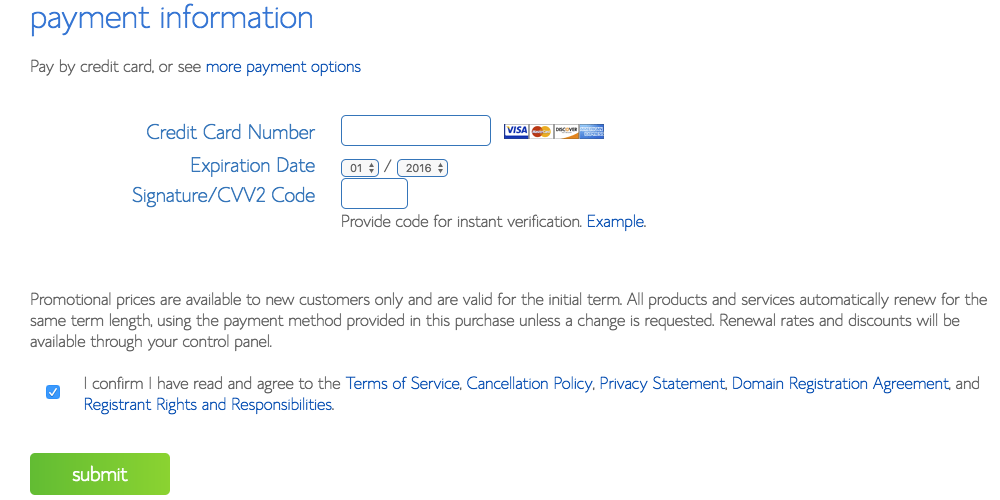 Payment Information | Tara Tierney