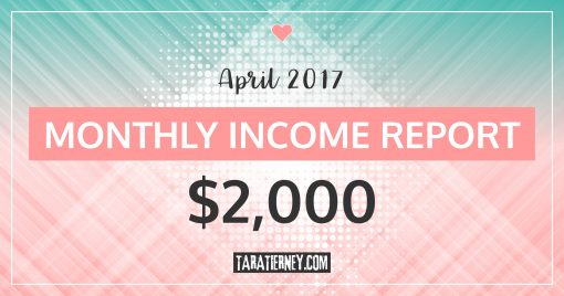 Monthly Blogging Income Report – April 2017