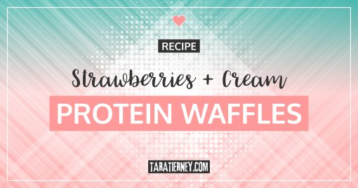 Strawberries + Cream Protein Waffle Recipe