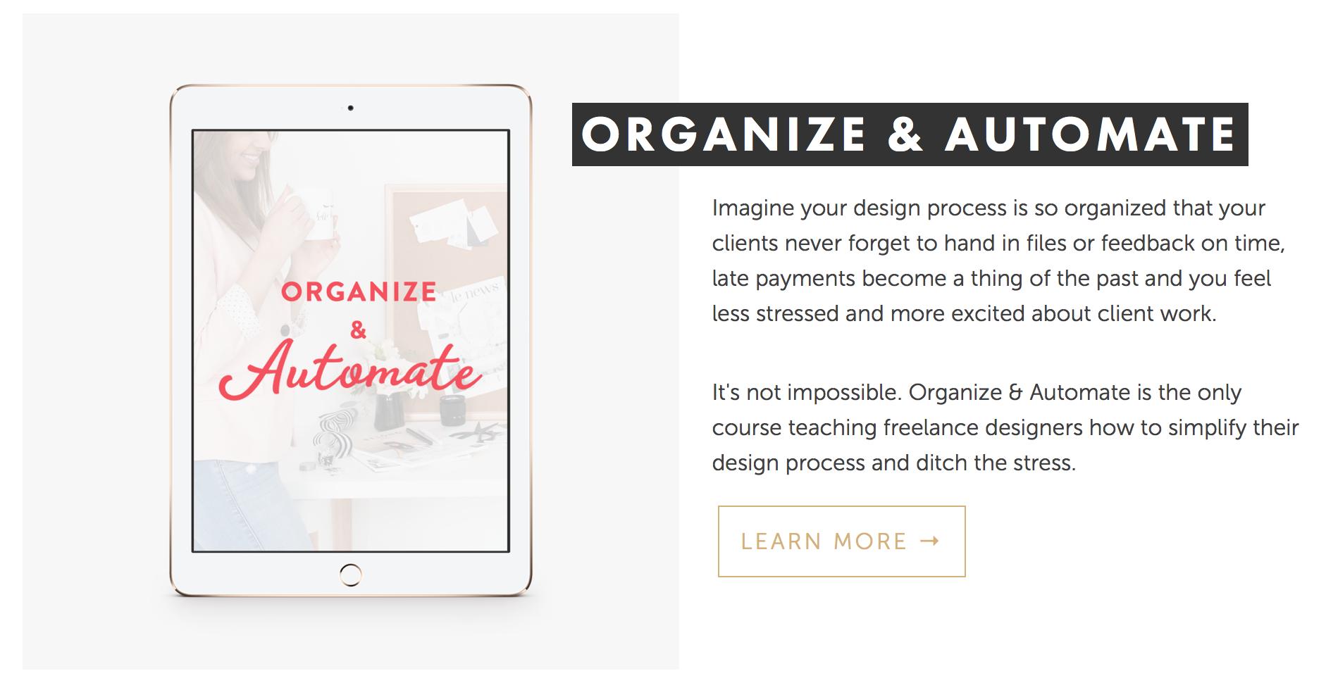 Organize & Automate course | Nesha Woolery