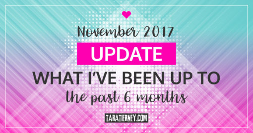November 2017 Update – What I've Been Up To the Past 6 Months