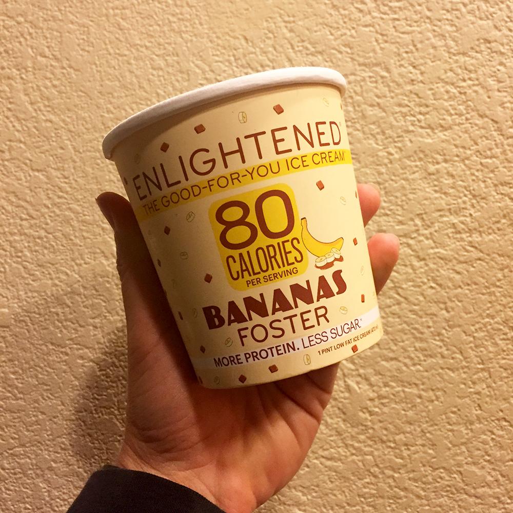 Enlightened Protein Ice Cream | Bananas Foster